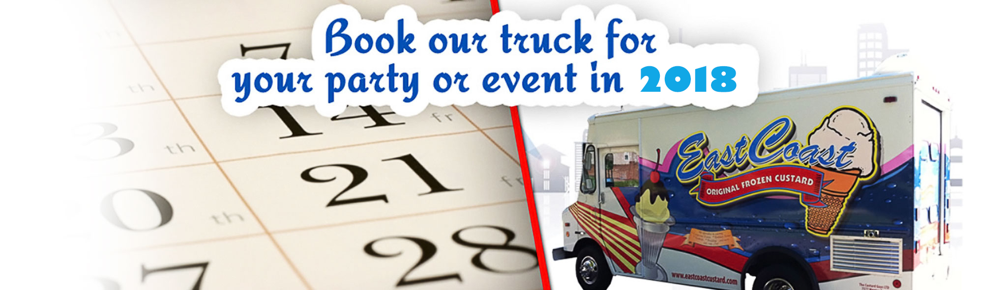 Book our truck for your party event in 2018